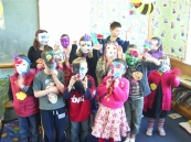 Mask making was a big hit!