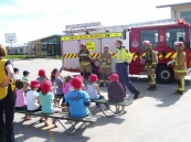 Rolleston Fire Fighters come to visit.